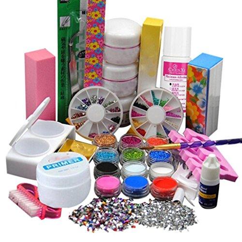Vovotrade Poudre Acrylique Primer Liquide Ongle Art Brosse Forme La colle Paillettes UV Conseils Kits