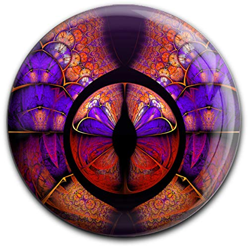 metALUm runder Acrylmagnet mit starkem Neodym - Magnet Fraktal - Muster #1301057
