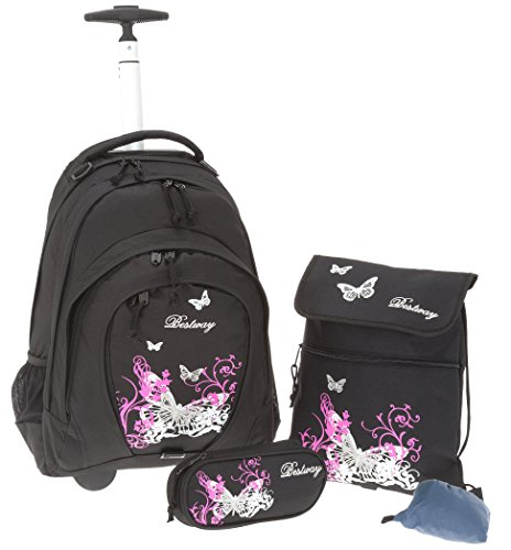 Bestway , Zaino , Flower / Violett (Rosa) - 80115-2217 butterfly black