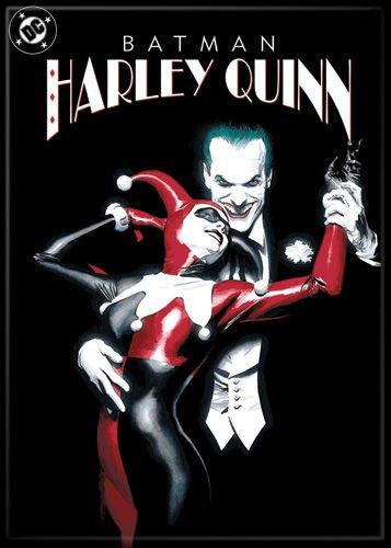 Ata Boy DC Comics Batman - Harley Quinn und der Joker Magnet 6,3 x 8,9 cm für Kühlschrank und Schließfächer
