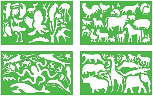Quercetti 13/2617 - Plantillas de dibujo, diseño de animales