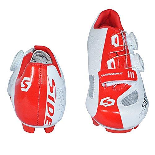 Hommes de Course pour vélo de route Chaussures vélo Cycle Chaussures en différentes couleurs et tailles - WhiteRed