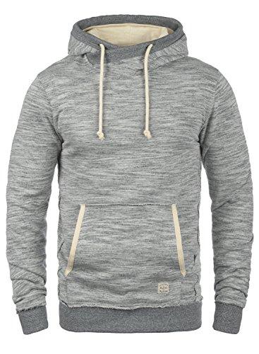 BLEND Clive Herren Kapuzenpullover Hoodie Sweatshirt aus 100% Baumwolle Meliert, Größe:M, Farbe:Stone Mix (70813)