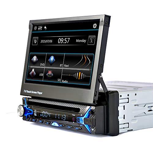 Preisvergleich Produktbild WWCAR 7-Zoll-Shrink-Touch-Screen HD Bluetooth Auto DVD Kartenspieler