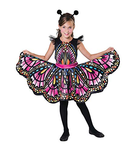 ing Kinder-Kostüm für Mädchen Kleid Butterfly Karneval, Größe:6/S ()