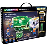 Laser Pegs Recycle Truck Light-Up Building Block Playset (330 Piece) The First Lighted Construction Toy to Ignite Your Child's Creativity; It's Your Imagination, Light It Up