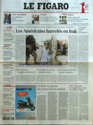 FIGARO (LE) [No 18331] du 16/07/2003 - POLICE SCIENTIFIQUE - LES MALFAITEURS TRAHIS PAR LEURS ODEURS - CINEMA - RETOUR D'UN TRIO DE CHOC ET DE CHARME AVEC LA SUITE DE CHARLIE'S ANGELS - RADIOS - FRANCE INFO GRILLE SES CONCURRENTES ET S'INSTALLE EN TETE DES AUDIENCES - LE FIGARO DE L'ETE - LES ROIS DU BRUT - ANGOLA, LA MALEDICTION DE L'OR NOIR - PAROLES D'AVENIR - FLEUR, MAJOR DU CONCOURS DE L'INTERNAT DE MEDECINE - FRANCK, COMPAGNON CHARPENTIER - LES ROUTES MYTHIQUES - LE CHEMIN DE COMPOSTELLE