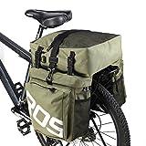 Sac Sacoche pour arrière de vélo Taille L imperméable pour porte-bagage de vélo arrière siège sac de transport Vert Armée 45L avec de haute qualité vert B-Green 2 37L
