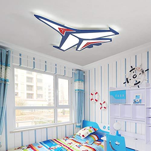 Kinderzimmer-kronleuchter Schattierungen (Kronleuchter Kinderzimmer Lampe Junge Schlafzimmer Flugzeug Licht Kreative Cartoon Led Deckenleuchte Kinderzimmer Lampe Kindergarten Lampen Stufenlose Dimmen (Color : A-63CM))