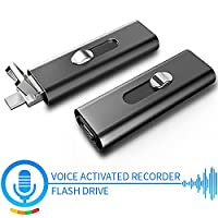 Digital Voice Activated Recorder| Spy Audio Recording Gadget | 8 GB Flash Drive with Built-In Microphone| Real 17 Hours Battery | Record and Charge Simultaneously | 148 Hours of Recording Capacity