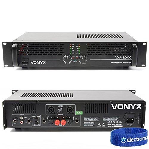 Vonyx VXA-2000 Semi Professional PA Amplifier Mobile Party DJ Rack Moun...