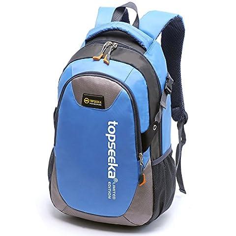 Outdoor peak Unisex Jungend Oxford wasserdicht Büchertasche Rucksack Laptoptasche Unitasche Freizeitrucksack Schulrucksack Studententasche Daypacks