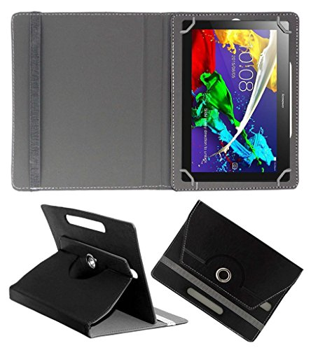 Acm Rotating 360° Leather Flip Case For Lenovo Tab 2 A10-70 Tablet Cover Stand Black  available at amazon for Rs.189