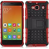 [ Xiaomi Redmi 2 / Hongmi 2 / Red Rice 2 ] - Carcasa Alligator JAMMYLIZARD Heavy Duty Case De Alta Resistencia, ROJO
