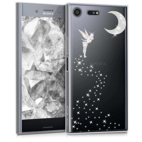 kwmobile Sony Xperia XZ Premium Hülle - Handyhülle für Sony Xperia XZ Premium - Handy Case in Silber Transparent