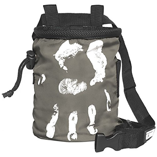 LACD Chalk Bag Farbe grau: Magnesium Tasche für klettern & bouldern, Frauen & Männer, chalkbag ist aus super strapazierbaren und stabilen Material und staubdicht || Hand of Fate