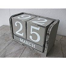 suchergebnis auf f r ewiger kalender holz. Black Bedroom Furniture Sets. Home Design Ideas