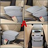 QFWCJ per Renault Clio Captur Armrest Box Centrale Contenuto Scatola con portabicchieri posacenere con interfaccia USB, Un Grigio Stile