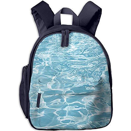 Büchertasche,Kinderschultasche,Kindergarten Backpack,Junge/Mädchen Tagesrucksack,Blauer Swimmingpool Geplätscherter Wasserrosa Leichter Reisetaschenrucksack,Kinderschultertasche