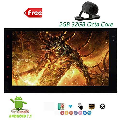 EINCAR Android 7.1 Auto-Stereo Octa-Core Double 2 Din Autoradia GPS Autoradio-Stereo Navigator 7Inch Touchscreen Unterstützung Bildschirm Mirroring Bluetooth WiFi OBD 3G 4G SWC USB SD AUX + Bac