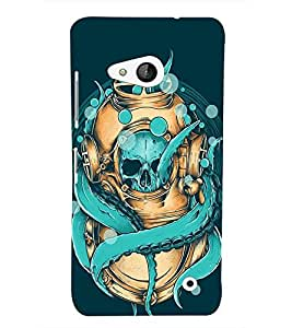 Takkloo Blue background cartoon picture,blue coloured skull, star fish) Printed Designer Back Case Cover for Microsoft Lumia 550