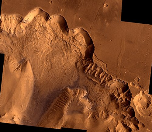 POSTER A3 NASA Ophir Chasma 1976 During its examination of Mars the Viking 1 spacecraft returned images of Valles Marineris a huge canyon system 5000