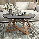 WU Teetisch, Moderner Minimalistischer Wohnzimmertisch, Runder Kleiner Beistelltisch, Kleines Tischchen/Teetisch Klein,Grau,70cm / 27.6In