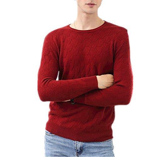 Herren Kaschmir Pullover - Cashmere Blend Sweater (Rot, XX-Large) Cashmere-blend Sweater