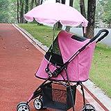 Aoligei Passeggino per Cani Ombrello di Sun carrello ombrello di protezione solare ANTI-UV