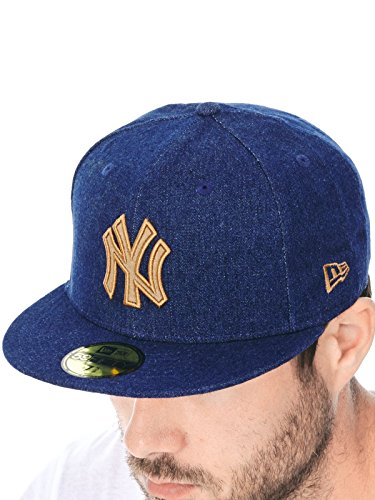 New Era MLB New York Yankees Rustic Cap 59fifty Basic Fitted Basecap Kappe Men Jean