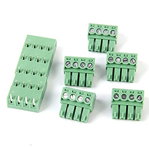 5pcs 4pin Bornier à Vis Connecteur PCB Mont DT
