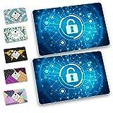 RFID/NFC Blocker - Ultradünn! Strahlungsfrei! 2X Schutz für EC-Karte, Kreditkarte, Personalausweis, UVM. - Blockify (Cyber Blue)
