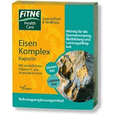 Fitne, Eisen-Komplex-Kapseln, FITNE Nahrungsergänzung & H, 30 St