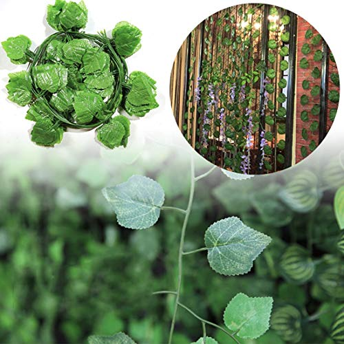 Grape Ivy (Garland Ivy - 1pc 90cm Artificial Plants Green Ivy Leaves Grape Vine Fake Parthenocissus Foliage Home Wedding Bar - Flowers Artificial Dried Artificial Dried Flowers Road Christmas Nordic Green W)