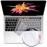 """i-Buy Français Clavier Coque de Protection / Couverture AZERTY pour MacBook Pro 13"""" avec Touch Bar & ID + Protecteur de pavé tactile - Transparent / Clair"""