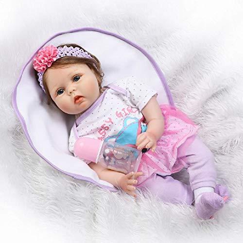 HOOMAI 22pulgadas 55CM muñeco Reborn niña bebé Silicona Ojos Abiertos Real Baby Doll Magnetismo Juguetes