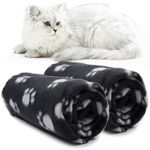 GIVBRO Haustierdecke Haustier Hund Decke Punkt Fleece Stoff Weich Niedlich Warme Waschbar Schwarz(100 cm x 70 cm Sortiert für Hunde und Katzen Fleecedecke (Fleece-katze)