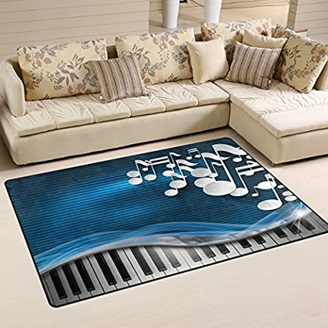 Bennigiry Home Contemporary Music Notes Dot Area Rugs 3'25