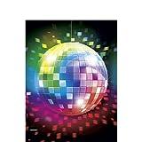NET TOYS 137 x 259 cm Party Tischdecke Disco Tischdeko 70er Jahre Tischwäsche Deko Tisch Decke Geburtstag Dekoration