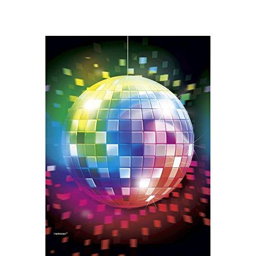 m Party Tischdecke Disco Tischdeko 70er Jahre Tischwäsche Deko Tisch Decke Geburtstag Dekoration ()