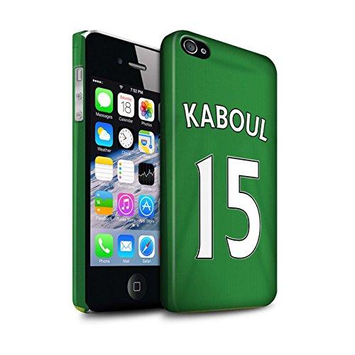 Offiziell Sunderland AFC Hülle / Matte Snap-On Case für Apple iPhone 4/4S / Pack 24pcs Muster / SAFC Trikot Away 15/16 Kollektion Kaboul