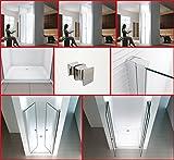 Wagner [75-140cm] Cabina de ducha en nicho en aluminio y vidrio con puerta batiente - Puerta nicho de Cabina de ducha (80x195cm)