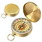 Toogoo(R) - Orologio da taschino con bussola, tradizionale, di stile, in ottone, per esterni, per campeggio/escursionismo/viaggio