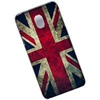 Samsung Galaxy J7 (2017), J730, Pro, Duos. Protective Slim Case. Tasche Cover. Union Jack. Flag of the United Kingdom. UK Flag.