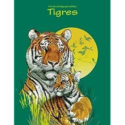 Livre de coloriage pour adultes Tigres 1