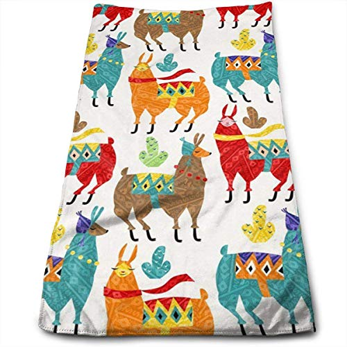 Llamas-Colors Bath Towels for Bathroom-Hotel-Spa-Kitchen-Set - Circlet Egyptian Cotton - Highly Absorbent Hotel Quality Towels