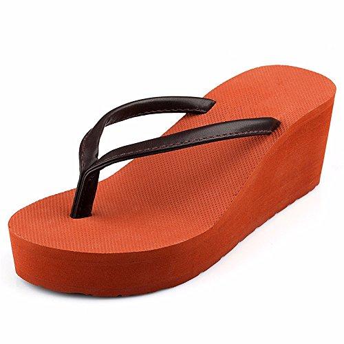 Aldo-flip-flops (FLYRCX Mit hohen Absätzen Dame flip flops Sommer-sohlen Strand Hausschuhe, 37, b)