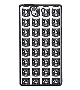 PrintVisa Designer Back Case Cover for Sony Xperia Z :: Sony Xperia ZC6603 :: Sony Xperia Z L36h C6602 :: Sony Xperia Z LTE, Sony Xperia Z HSPA+ (Lady Girly Dance Pattern)