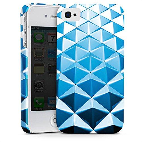 Apple iPhone X Silikon Hülle Case Schutzhülle Nieten Muster Silber Blau Premium Case glänzend