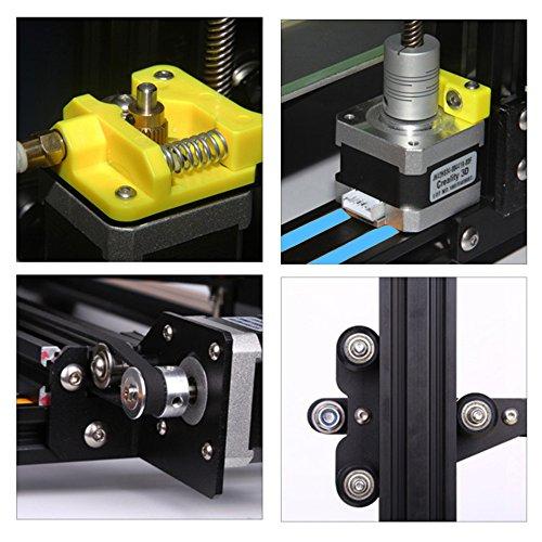 CCTREE Creality CR-10S DIY Desktop 3D Drucker Großen ruck Größe 300x300x400mm 1.75mm 0.4mm Düse Mitund Zwei Z Achse Glühlampen Detetor ,Orange -